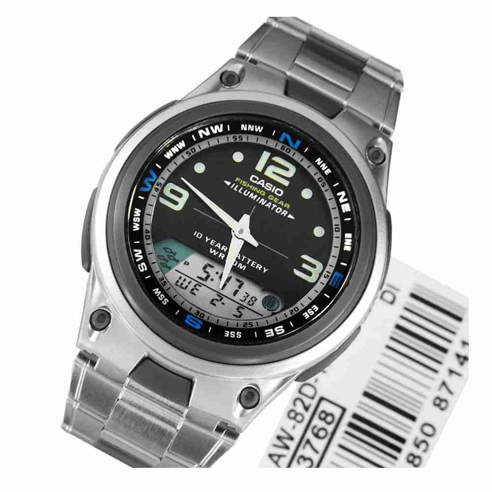 Casio fishing gear aw 82d 1avdf wrist watch watchcentre pk for Casio fishing watch
