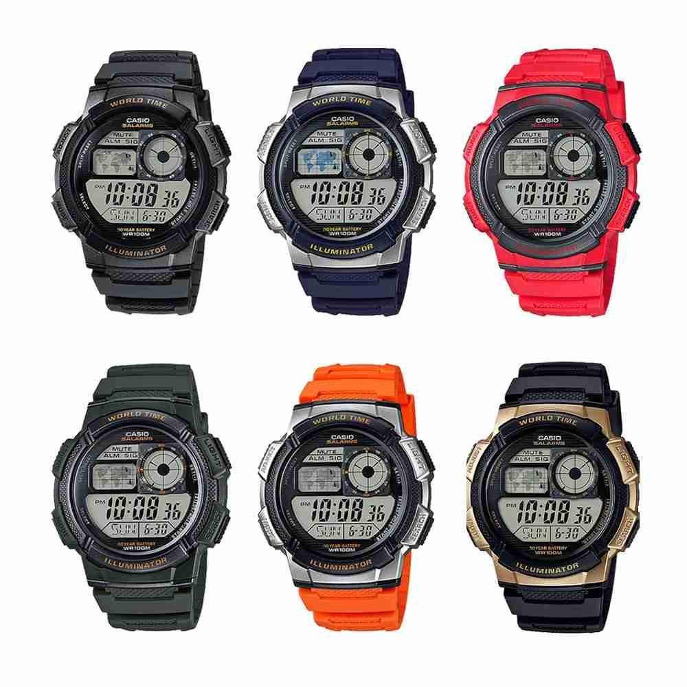 Casio AE-1000W Series Sporty Look Digital Wrist Watches ...