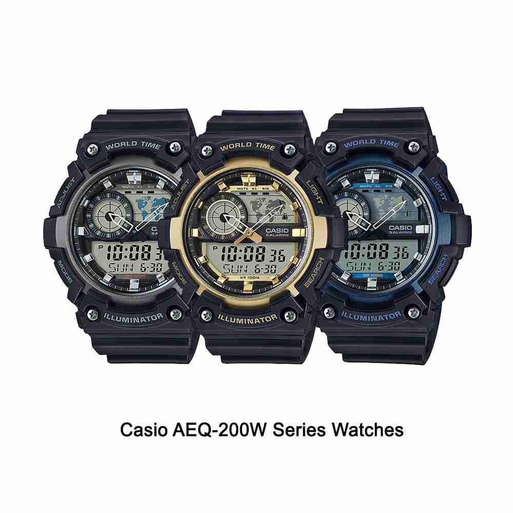 Shop for Casio Stylish AEQ-200W Series Wrist Watches ...