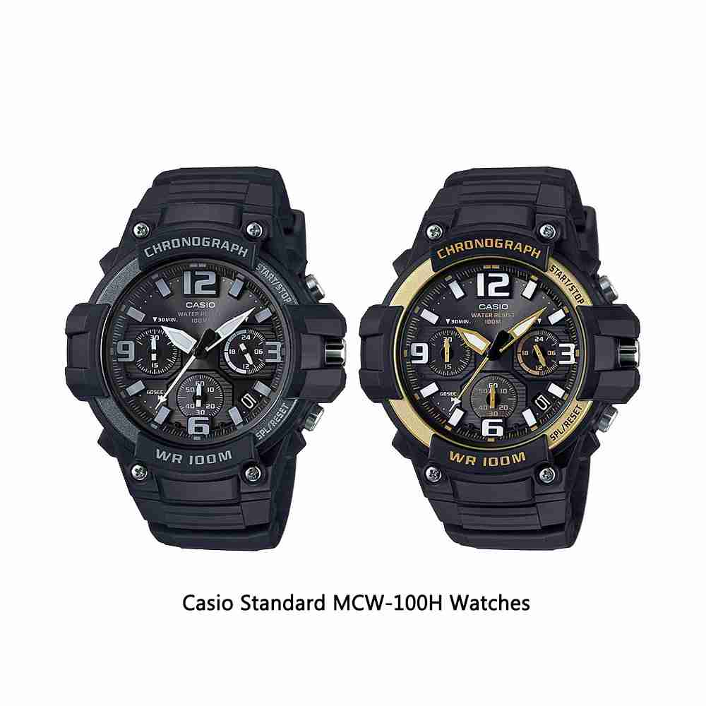 8aaff603e46 Casio Chronograph MCW-100H Series Analog Wrist Watches - WatchCentre.PK