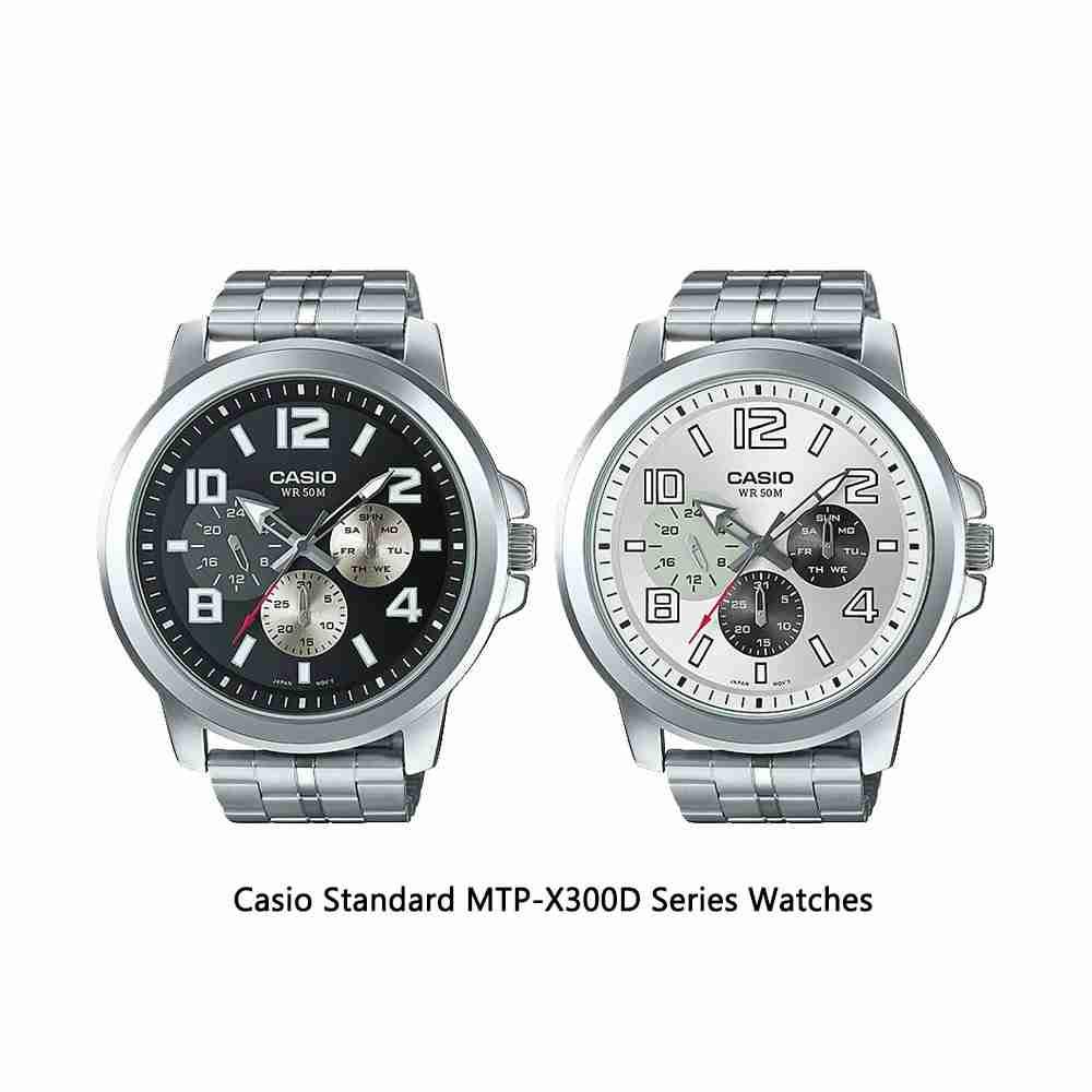 Casio Standard MTP-X300D Series Analog Men's Wrist Watches ...
