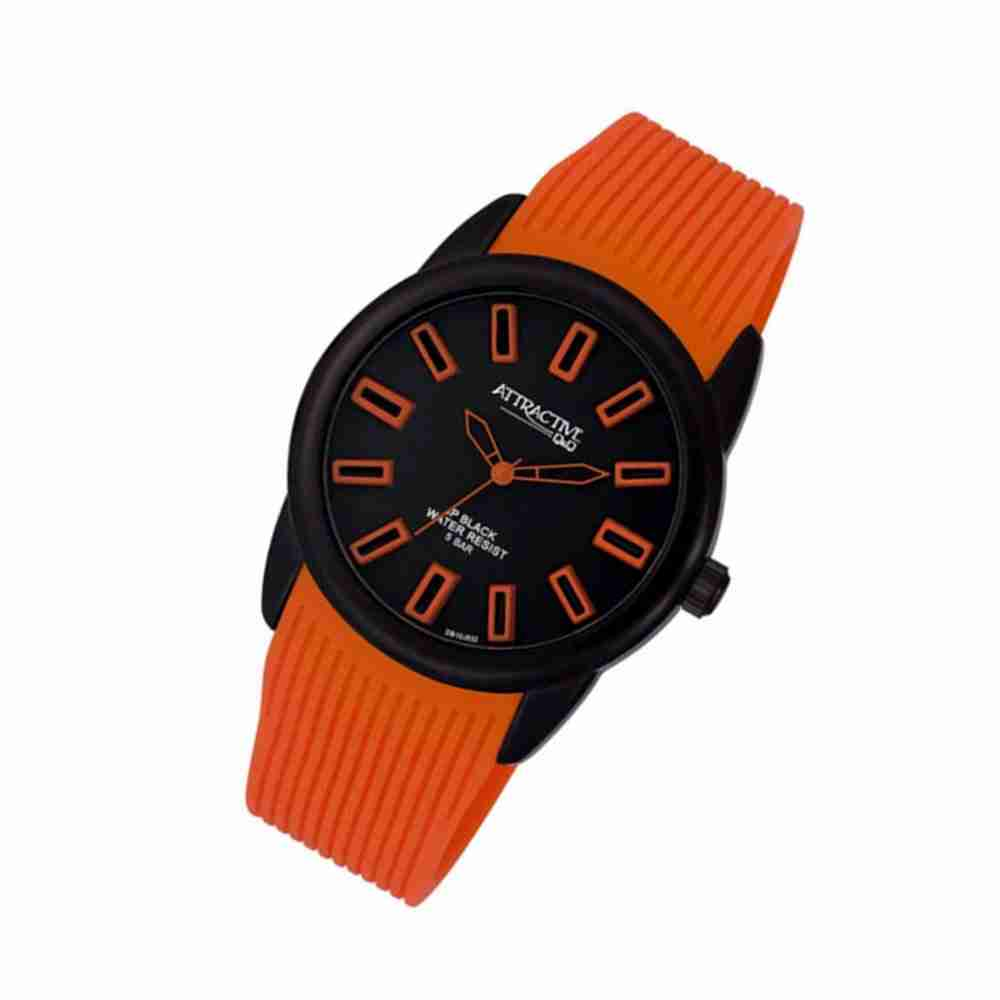 Q q db10j532 attractive series orange color wrist watch watchcentre pk for Q q watches