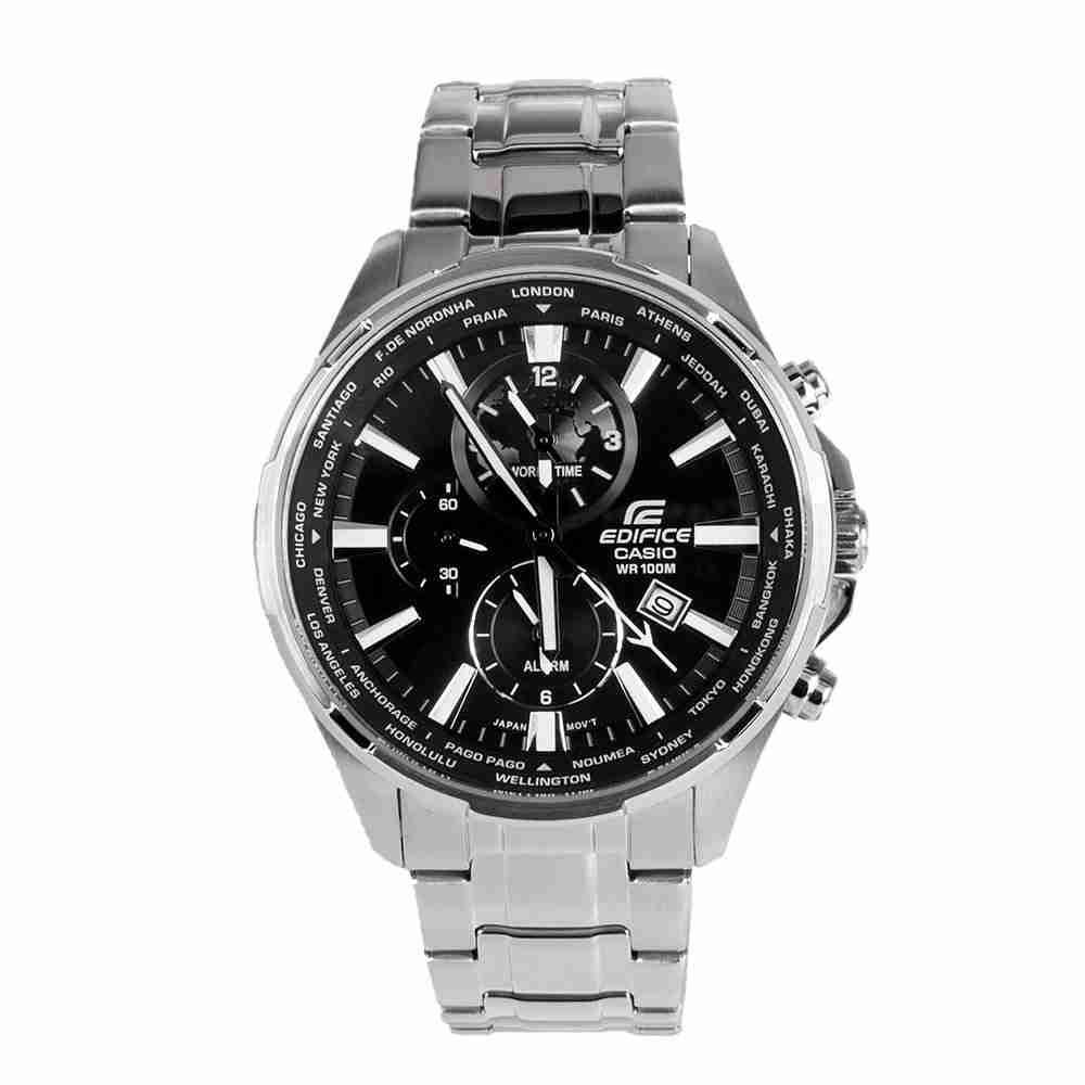 37415e82a7bf Shop for Casio Edifice EFR-304D-1AV Black   Silver Men s Watch ...