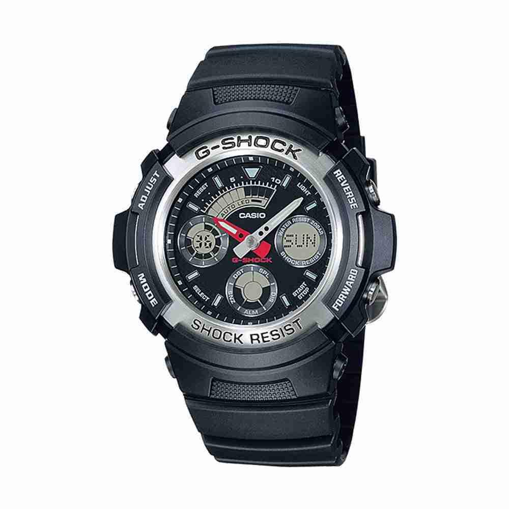 9fb319ed3ace Shop for Casio G-Shock AW-590-1ADR Black Strap Stylish Wrist Watch ...