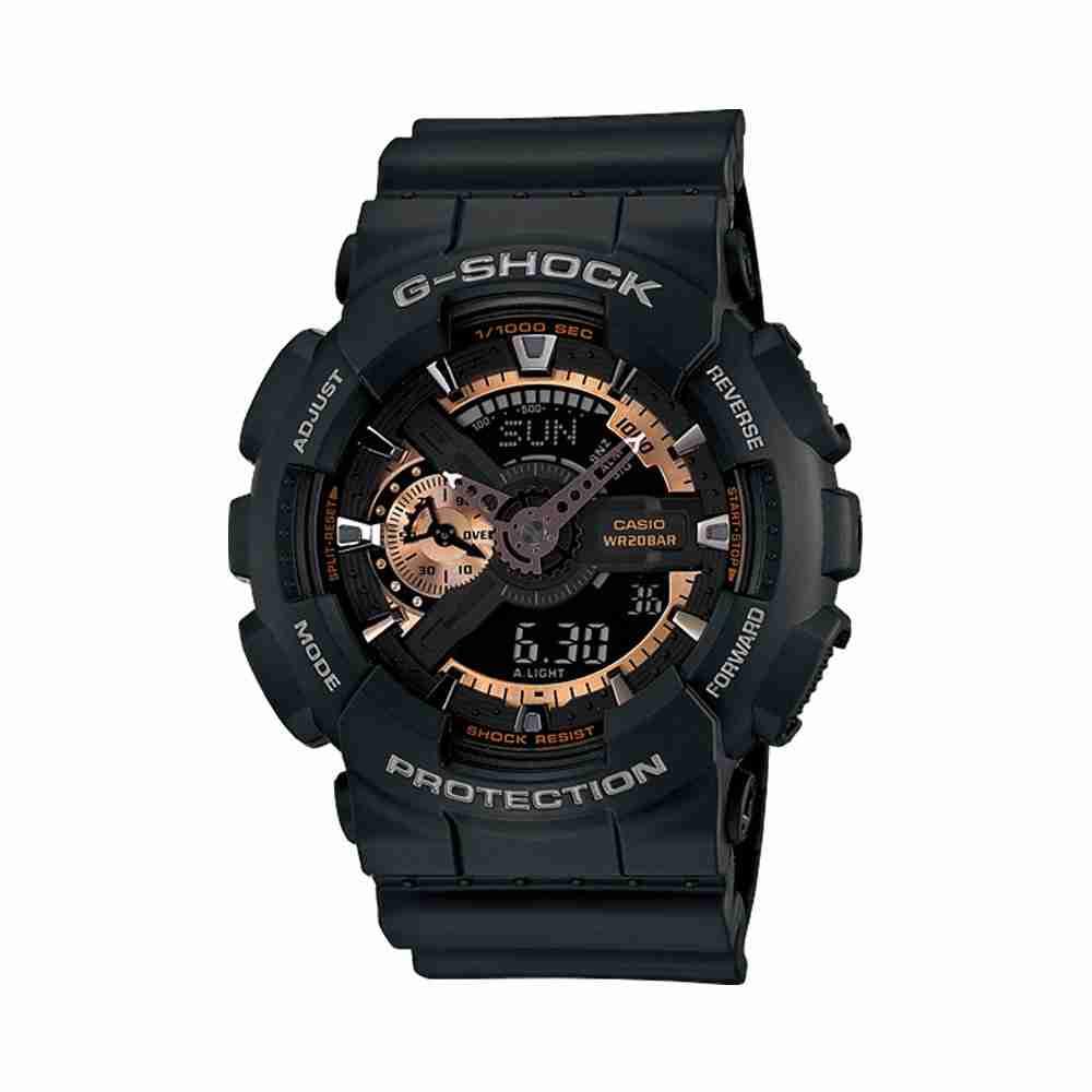 shop for casio g shock ga 110rg 1a black strap stylish. Black Bedroom Furniture Sets. Home Design Ideas