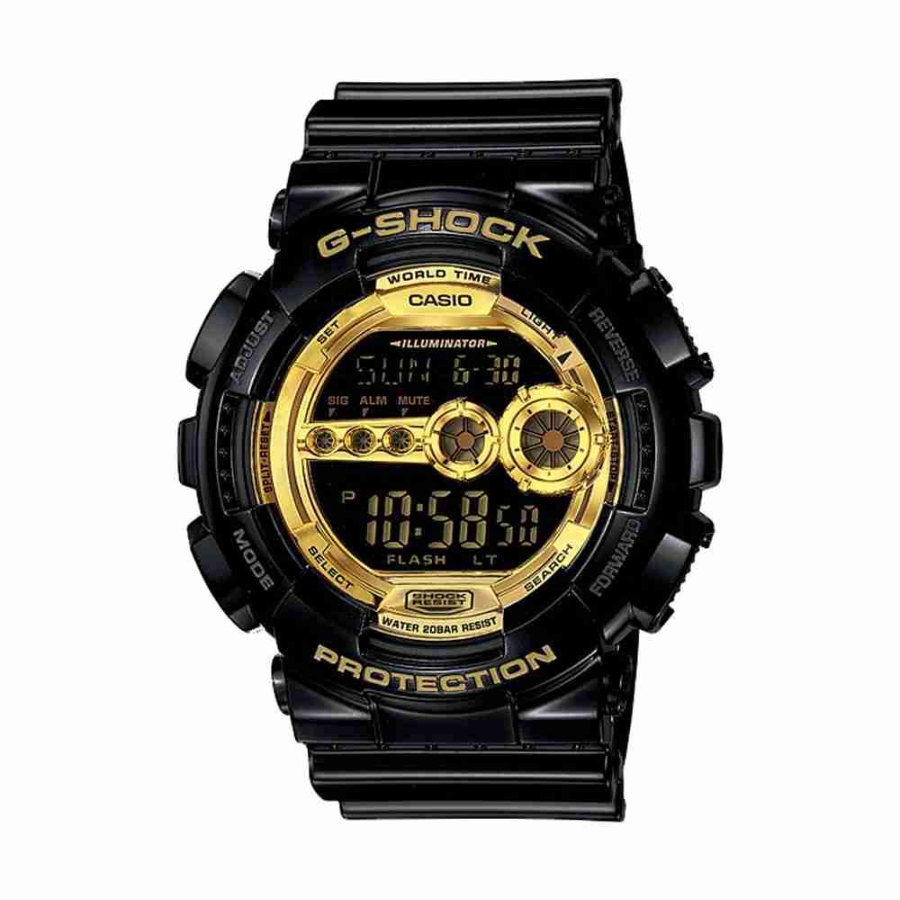 shop for casio g shock gd 100gb 1 black strap stylish. Black Bedroom Furniture Sets. Home Design Ideas