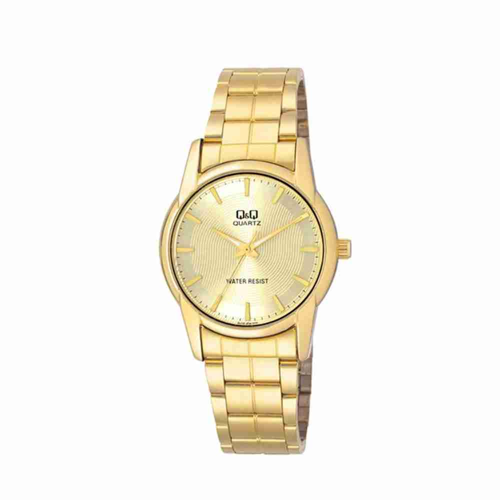 Q q q648 010y golden color analog wrist watch for men watchcentre pk for Q q watches