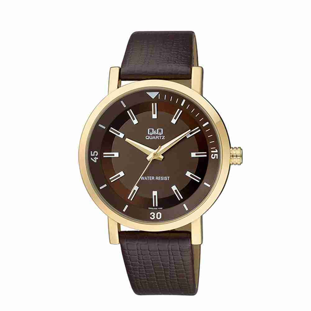 Q q q892j102y brown dial strap men 39 s wrist watch watchcentre pk for Q q watches
