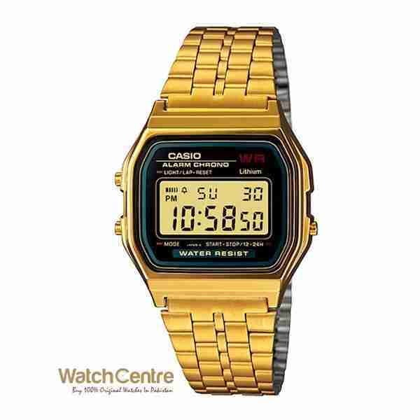 a505919c5aa6 Casio A159WGEA-1DF Retro Classing Golden Stainless Steel Wrist Watch
