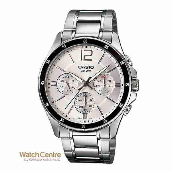 Casio Original MTP-1374D-7AV Chronograph Wrist Watch