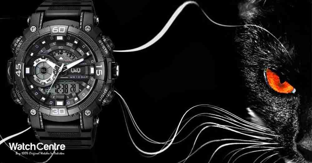 QQ Stylish Black Wrist Watch from WatchCentre.PK