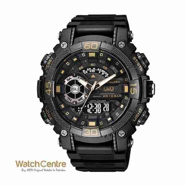 GW87J004Y Black Golden Watch by WatchCentre.PK