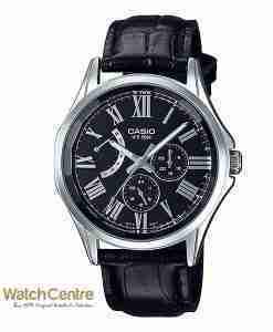 Casio Enticer MTP-E311LY-1AV Black Leather Classical Chrnograph Men's Wrist Watch Pakistan