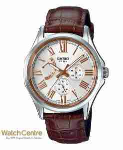 Casio Enticer MTP-E311LY-7AV Brown Leather Classical Chrnograph Men's Wrist Watch Pakistan