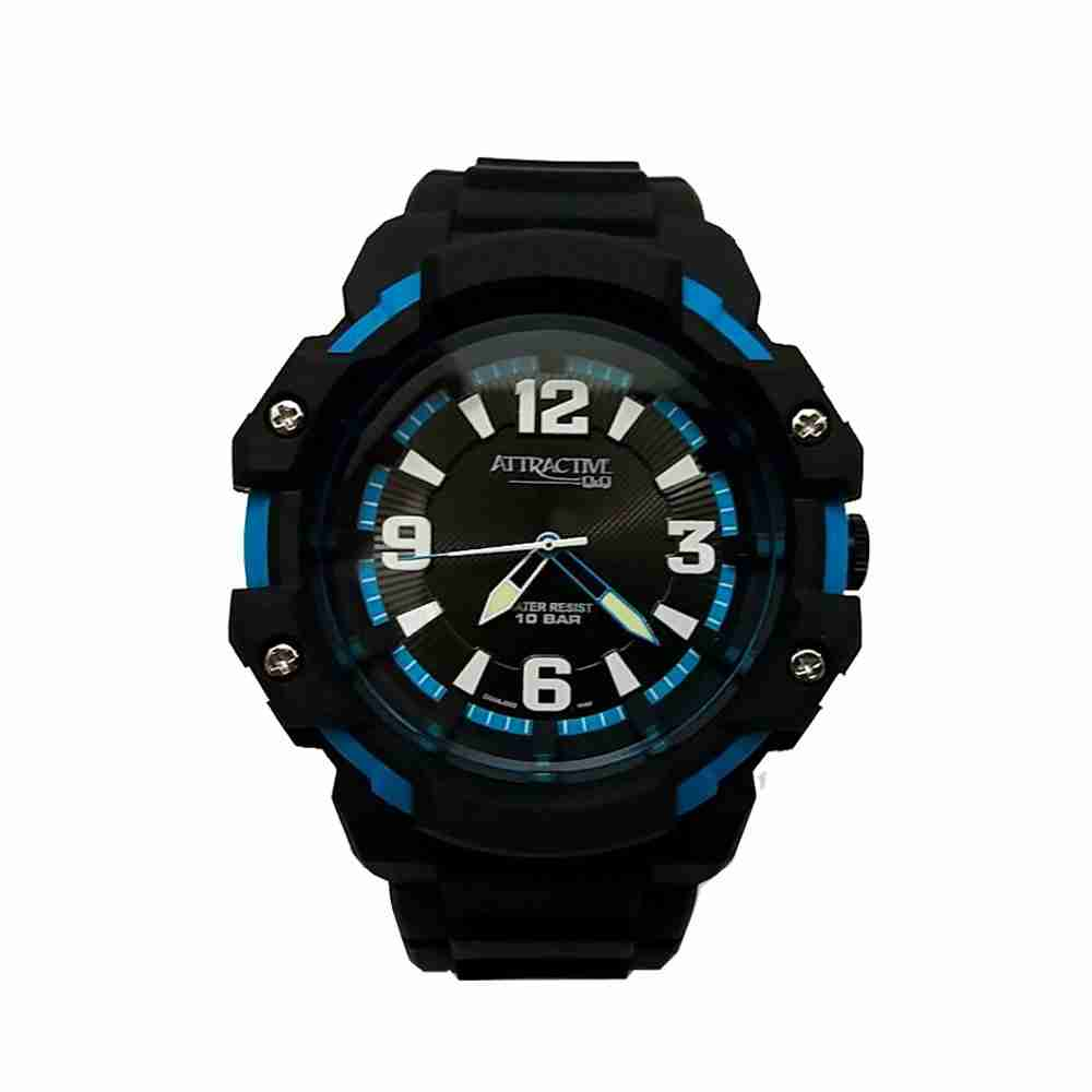Q q dj06j002 stylish analog black color wrist watch for men watchcentre pk for Q q watches