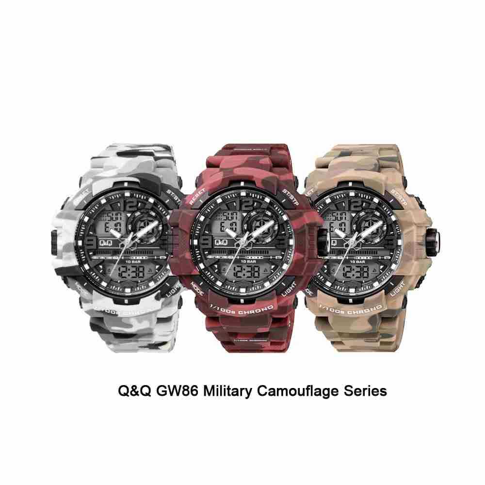 Q&Q GW86 Military Camouflage Series