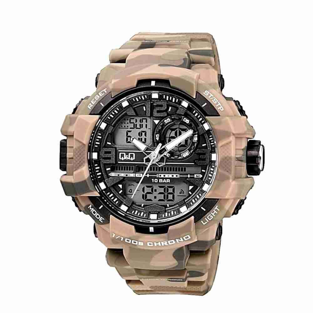 Q q citizen camouflage series army style men 39 s wrist watch watchcentre pk for Q q watches