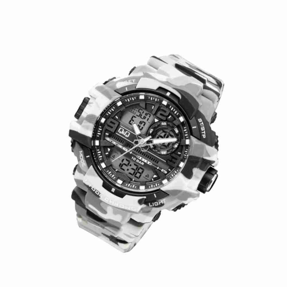 Q q gw86j006 citizen camouflage series commando style wrist watch watchcentre pk for Q q watches