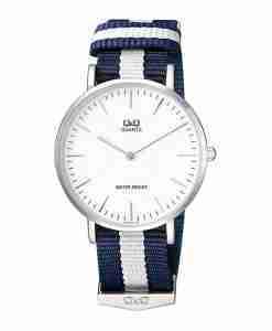 QQ Q974J331 Blue Nylon Casual Men's Watch