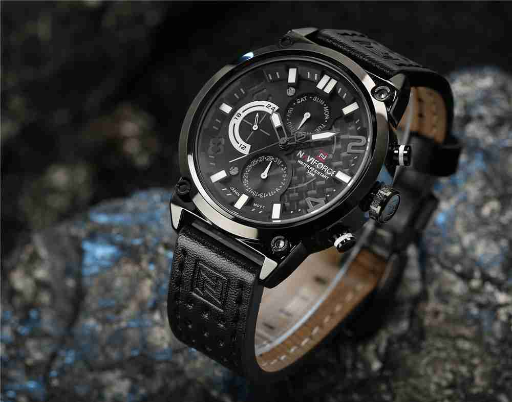 navi force nf9068 white chronograph watch