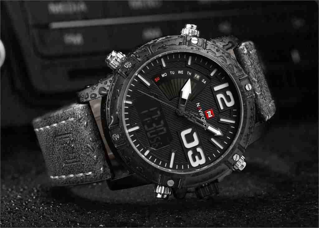 navi force NF9095-12 black dial