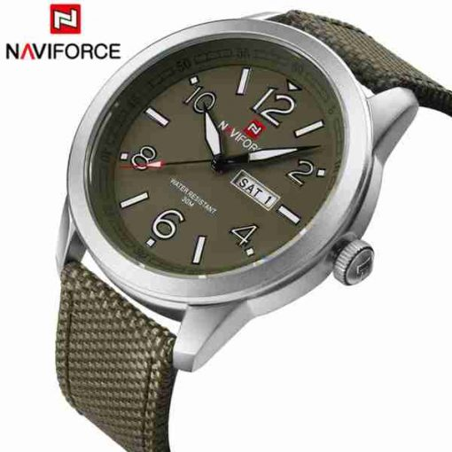navi force green nylon strap nf-9101-3