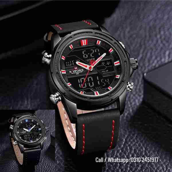 NaviForce dual time 2019 edition watches analog & digital
