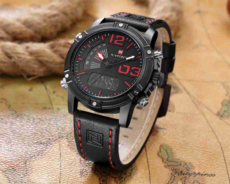 naviforce-nf9095-black and red