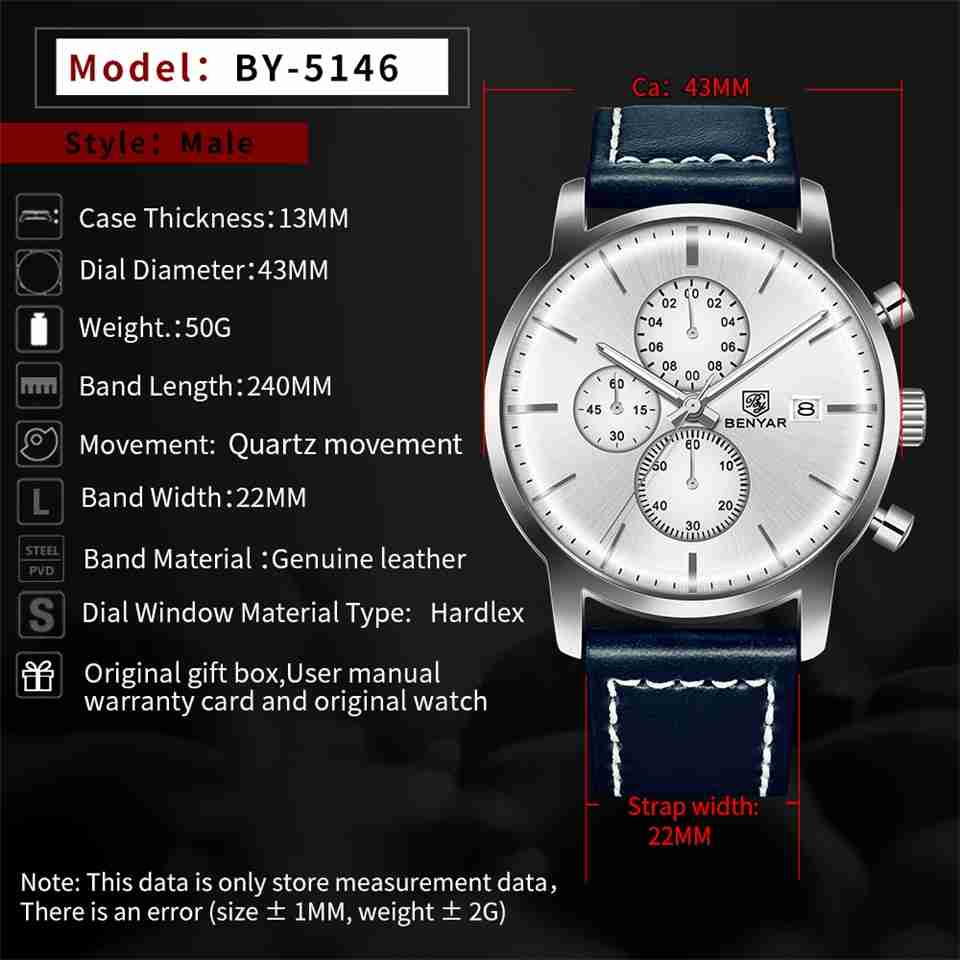 BY-5146-blue-leather-chrono-slim-dial