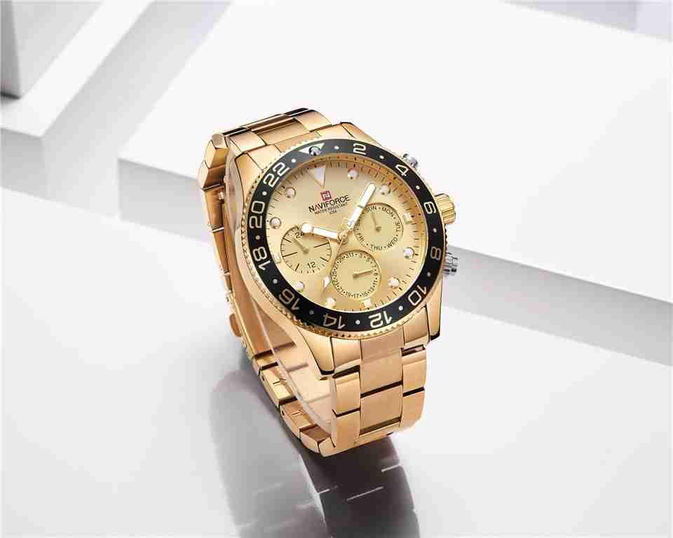 NF-9147 naviforce-golden-luxury-watch