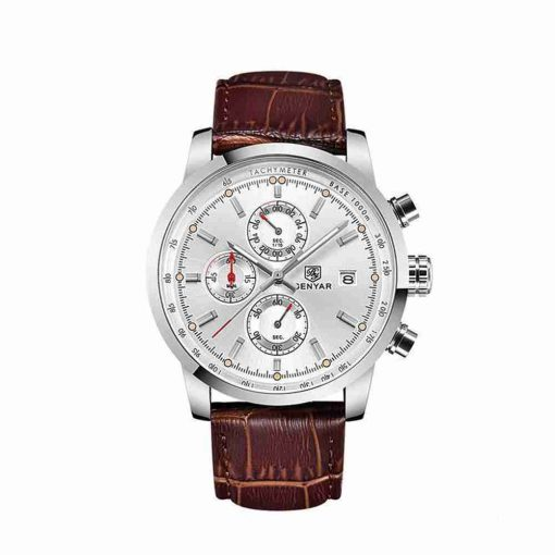 benyar-by-5102-brown-leather-silver-chrono-wc