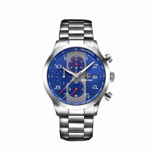 benyar-by-5133-chain-chrono-silver-blue-wc