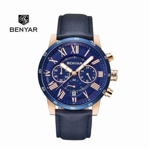 benyar-by-5139-roman-chrono-leather-blue-wc