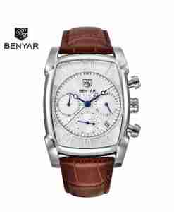 benyar-by5113-square-silver-chrono-leather-wc