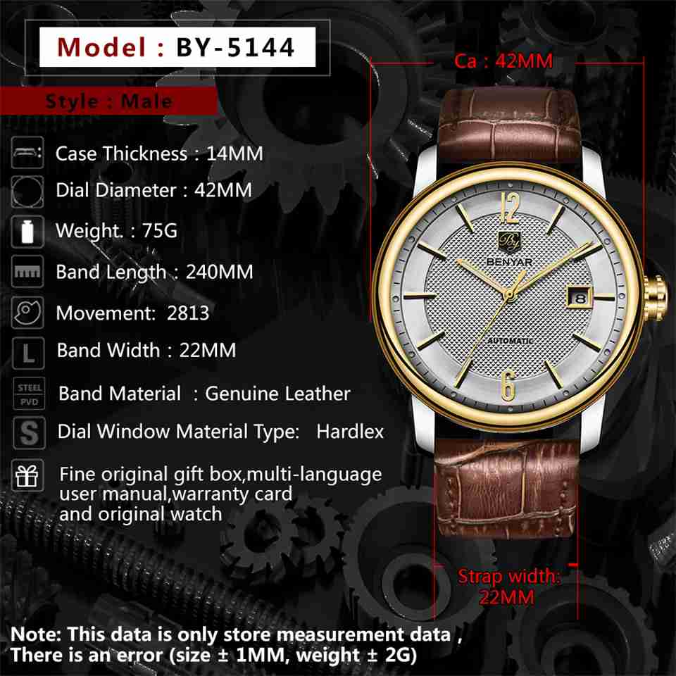 benyar-by5144-brown-leather-automatic