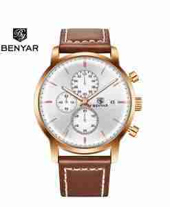 benyar-by5146-brown-leather-silver-chrono-wc