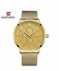 nf-3003-mesh-strap-chronograph-golden-wc