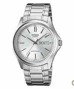 Casio MTP-1239D-7A men's silver stainless steel wrist watch for small to average wrist