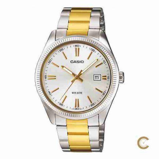 Casio MTP-1302SG-7AV men's golden stainless steel mens wedding gift watch