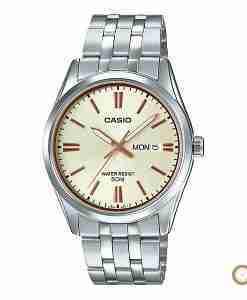 Casio MTP-1335D-9AV men's classic golden stainless steel wrist watch in Pakistan