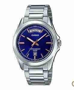 Casio MTP-1370D-9AV men's classic blue dial stainless steel wrist watch in Pakistan