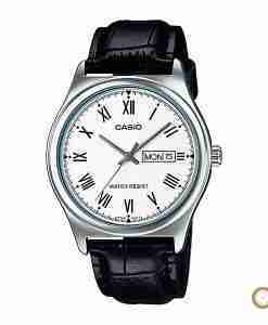 Casio MTP-V006L-7B white dial & leather men's roman wrist watch in Pakistan