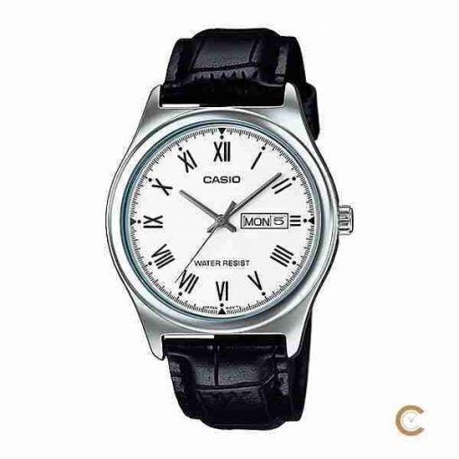 Casio MTP-V006L-7B white dial & leather men's roman wrist watch in Pakistan