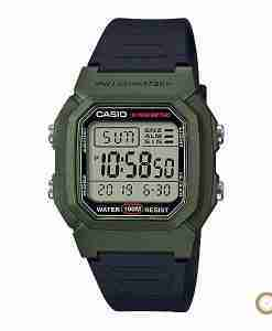 Casio W-800HM-3AV green digital youth wrist watch in Pakistan with 10 years battery life