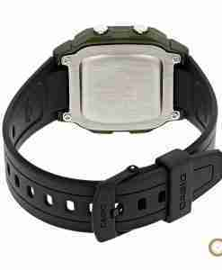 Casio W-800HM-2AV youth digital watch back side picture