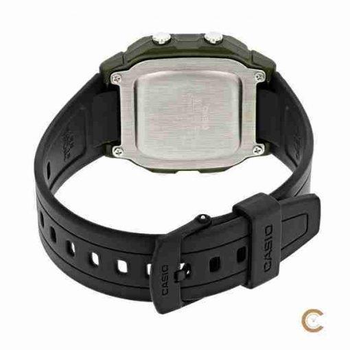 Casio W-800HM-2AV youth digital watch back side picture