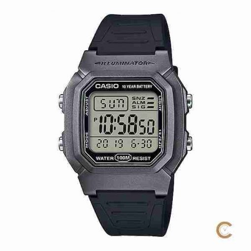 Casio W-800HM-7AV silver digital youth wrist watch in Pakistan with 10 years battery life