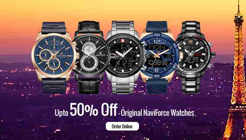 Up to 50% Off on Original Naviforce Watches in Pakistan