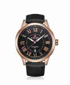 NaviForce NF9126 Black Color Roman Analog Men's Gift Watch