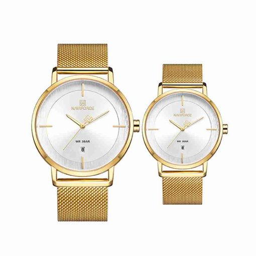 naviforce-nf-3009-golden-mesh-chain-couple-watch